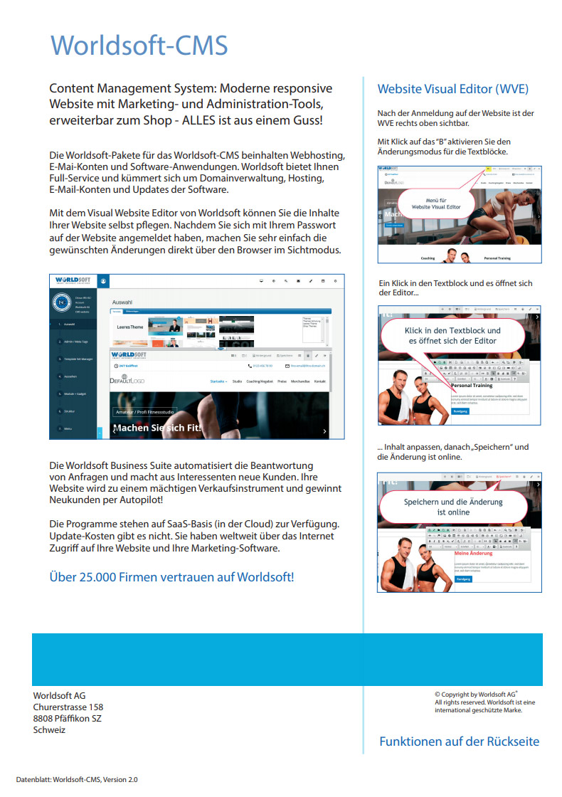 Worldsoft-CMS Datenblatt